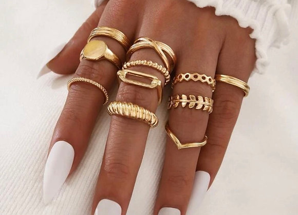 Set de 11 anillos