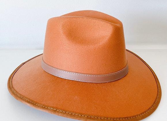 Sombrero indiana gamuza camel