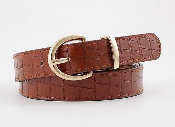 Cinturon camel textura