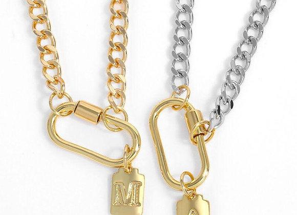 Collar personalizado letra 18k oro