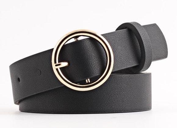 Cinturon negro liso