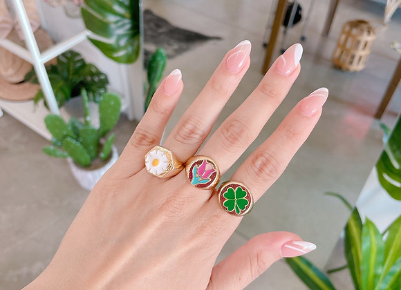 Funny ring chapa de oro