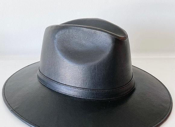 Sombrero indiana vinipiel black