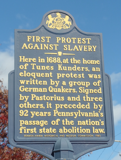 First Protest Against Slavery