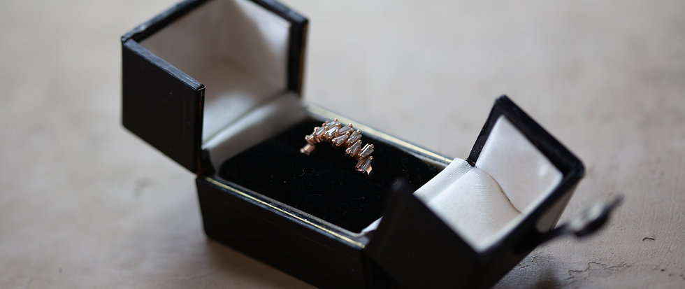 Black Butterfly Ring Box