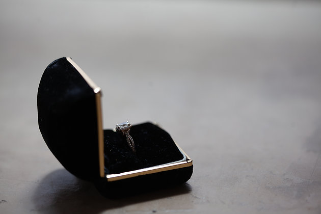 Onyx + Gold Ring Box