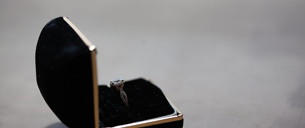 Onyx + Gold Ring Box