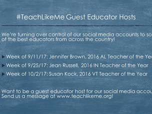 It's a #TeachLikeMe Takeover!