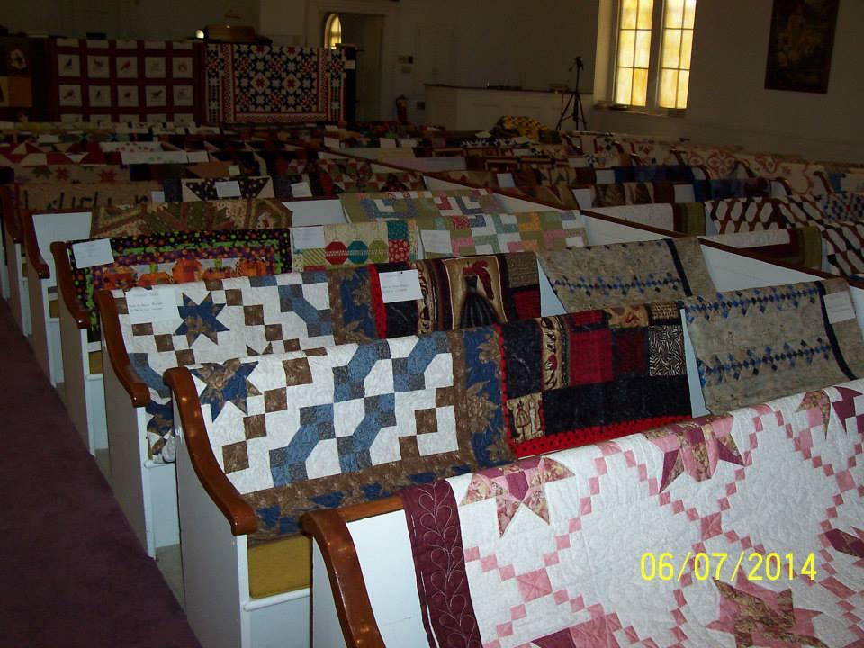 Quilt Show Inside Denmark Church