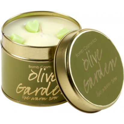 OLIVE GARDEN TINNED CANDLE BOMB COSMETICS