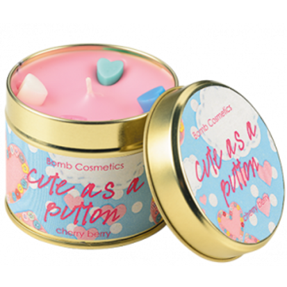 CUT AS A BUTTON TINNED CANDLE BOMB COSMETICS