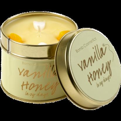 VANILLA HONEY Tin Candle BOMB COSMETICS