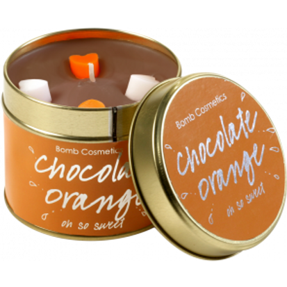 CHOCOLAT ORANGE TINNED CANDLE BOMB COSMETICS