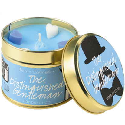 THE DISTINGUISHED GENTLEMAN Tin Candle BOMB COSMETICS