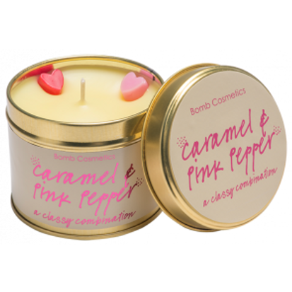 CARAMEL & PINK PEPPER TINNED CANDLEBOMB COSMETICS