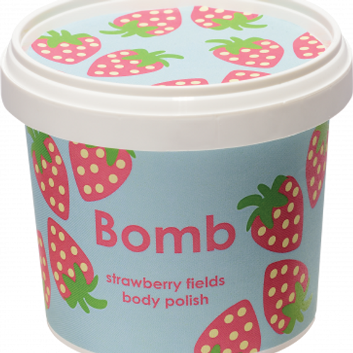 STRAWBERRY FIELDS BODY POLISH BOMB COSMETICS