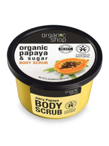 JUICY PAPAYA & SUGAR BODY SCRUB ORGANIC SHOP