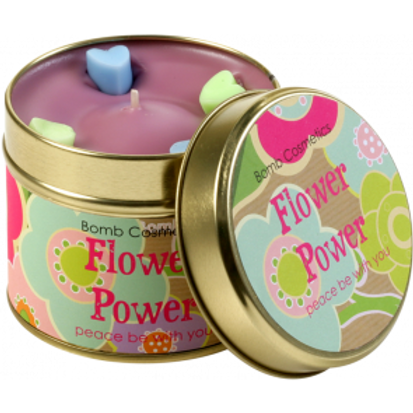 FLOWER POWER TINNED CANDLE BOMB COSMETICS