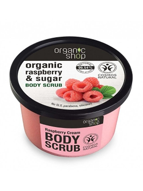 RASPBERRY CREAM & SUGAR BODY SCRUB  ORGANIC SHOP
