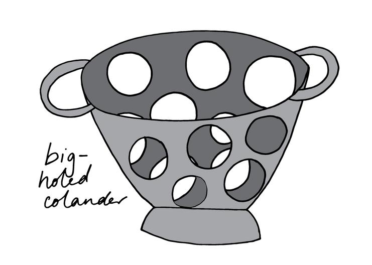 Big-holed colander