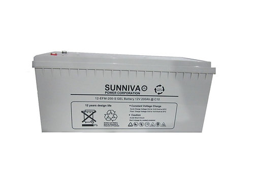Sunniva 200AH 12V Gel Battery