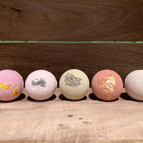 BATH BOMB SET of 4 - Clay / Superfoods