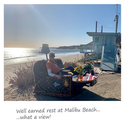 Sofa Surfing at Malibu Beach