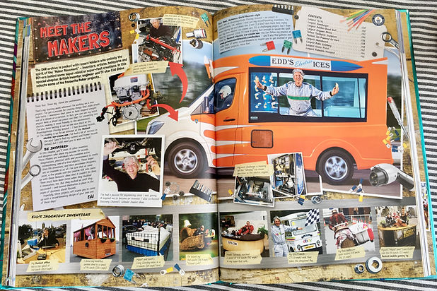 Guinness World Records book 2019 Edition showing many of Edd China's records