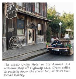 Casual Lofa outside 1880 Union Hotel