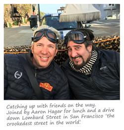 Edd China & Aaron Hagar on sofa car