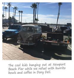 Newport Beach Pier outside Dory Deli
