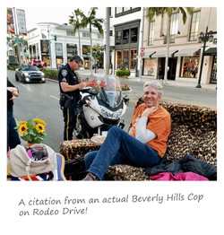 Beverly Hills Cop gives a citation to Edd China's driving couch