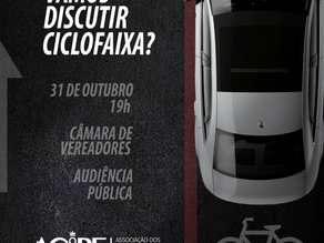 Audiência pública debate hoje a ciclofaixa da Avenida Barão do Rio Branco