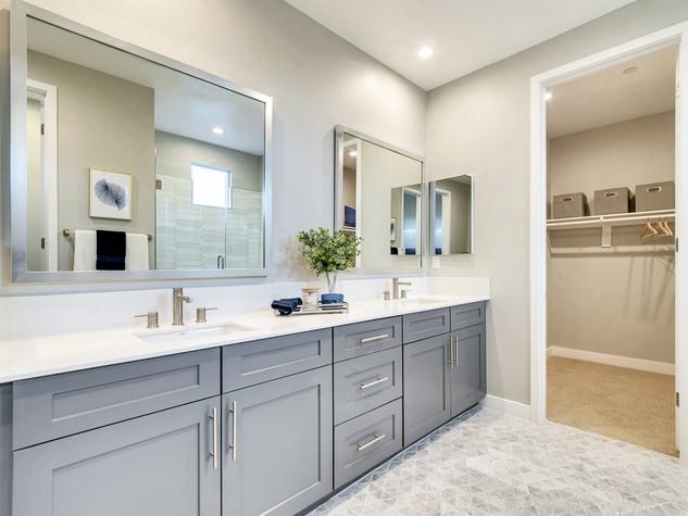 Primary Bath and Walk-in Closet