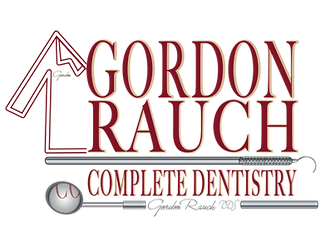 Gordon Rauch Complete Dentistry Brand with dental smock and dental tools like mirror and explore