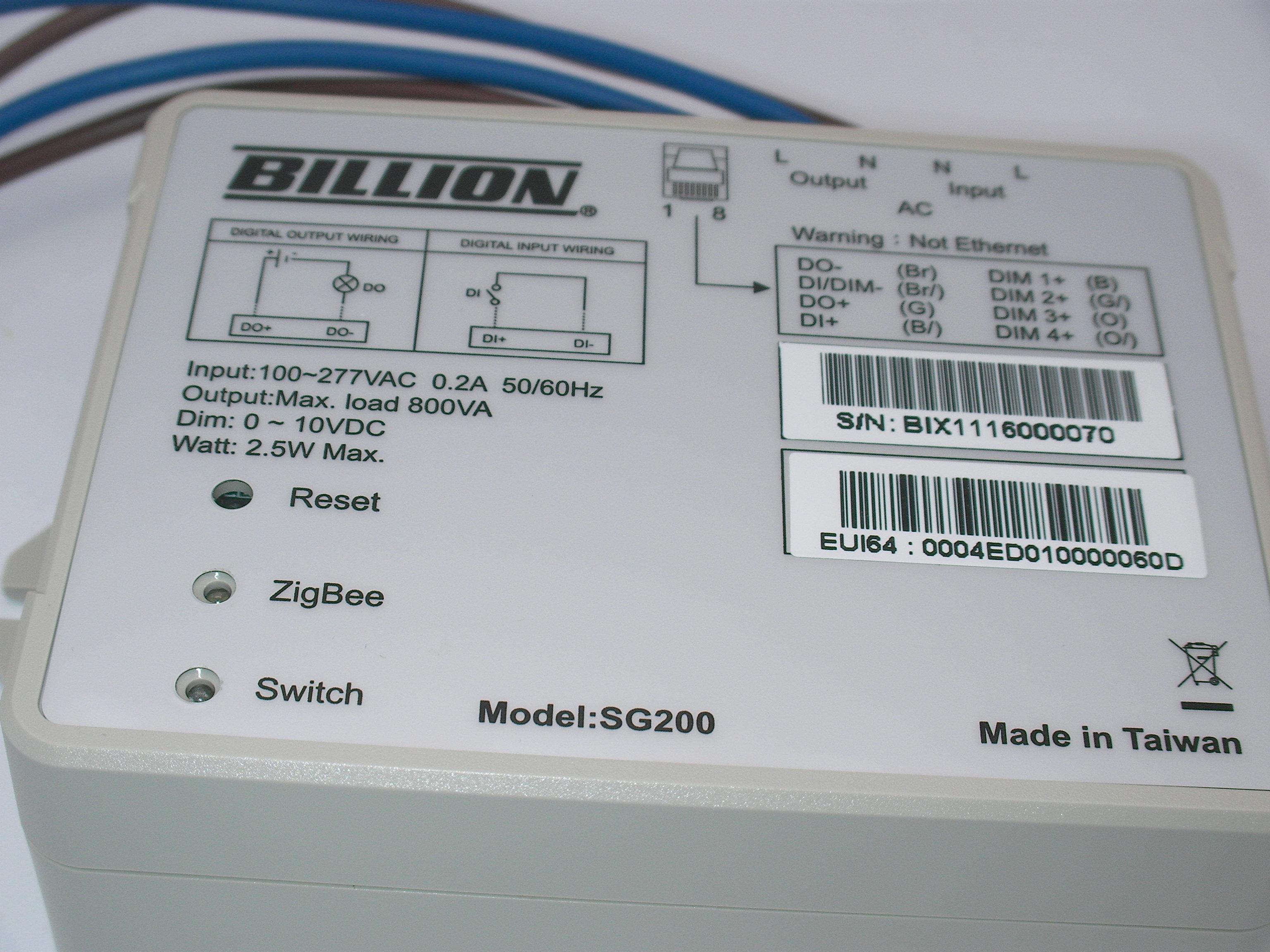 Billion SG200 Smart Lighting Control Box