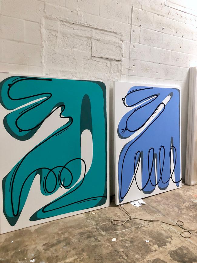 Bodies Series (2019) - Acrylic on Canvas