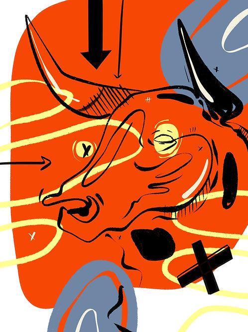 Taurus (36 in x 48 in)