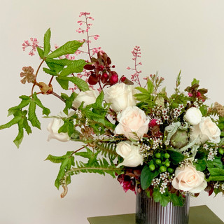 Gathered Spring Greens with Roses