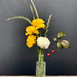 Ranunculus, Grasses & Wild Plum