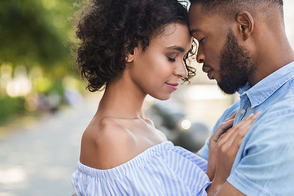 tender-black-couple-bonding-to-each-othe