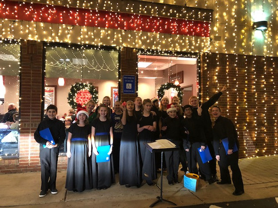 Caroling at Chic-Fil-A Atlanta Hwy