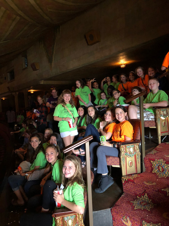 OCMS 6th and 7th Grade Chorus Students experience The Fox Theater with a trip to Aladdin.