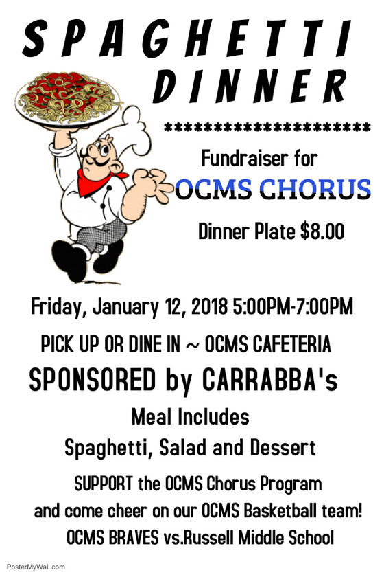 OCMS Chorus Spaghetti Night!