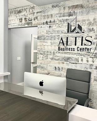Altis Business Center reception sign