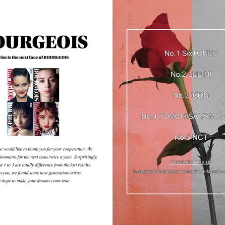 Who is the next face of BOURGEOIS