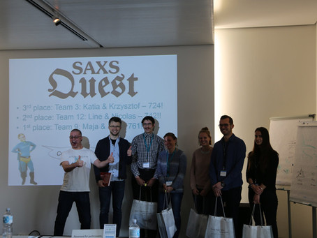Congratulations to K.Soshinskaya on the successful completion of the SAXS Quest during EMBO Course