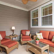 Sitting Porch with Ceiling Fan
