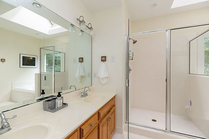 Master Shower and Vanity