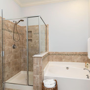 Master Shower + Soaking Tub